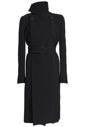 RICK OWENS Belted ponte trench coat