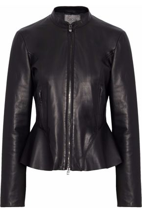 DROMe Leather peplum jacket