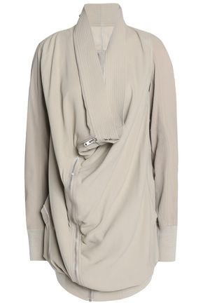 RICK OWENS Draped crepe jacket