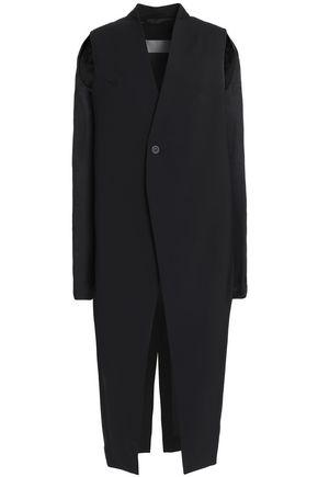 RICK OWENS Cutout stretch-wool crepe jacket