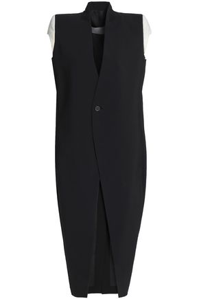 RICK OWENS Stretch-wool crepe vest