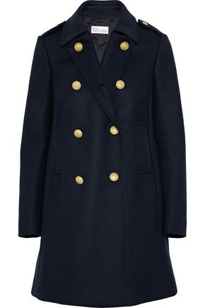 REDValentino Double-breasted wool-blend coat
