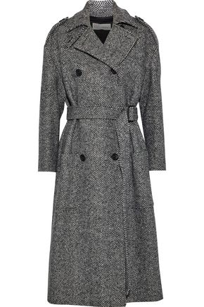REDValentino Herringbone wool trench coat
