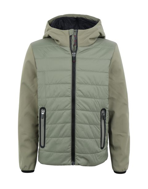 Nylon and softshell boy's jacket