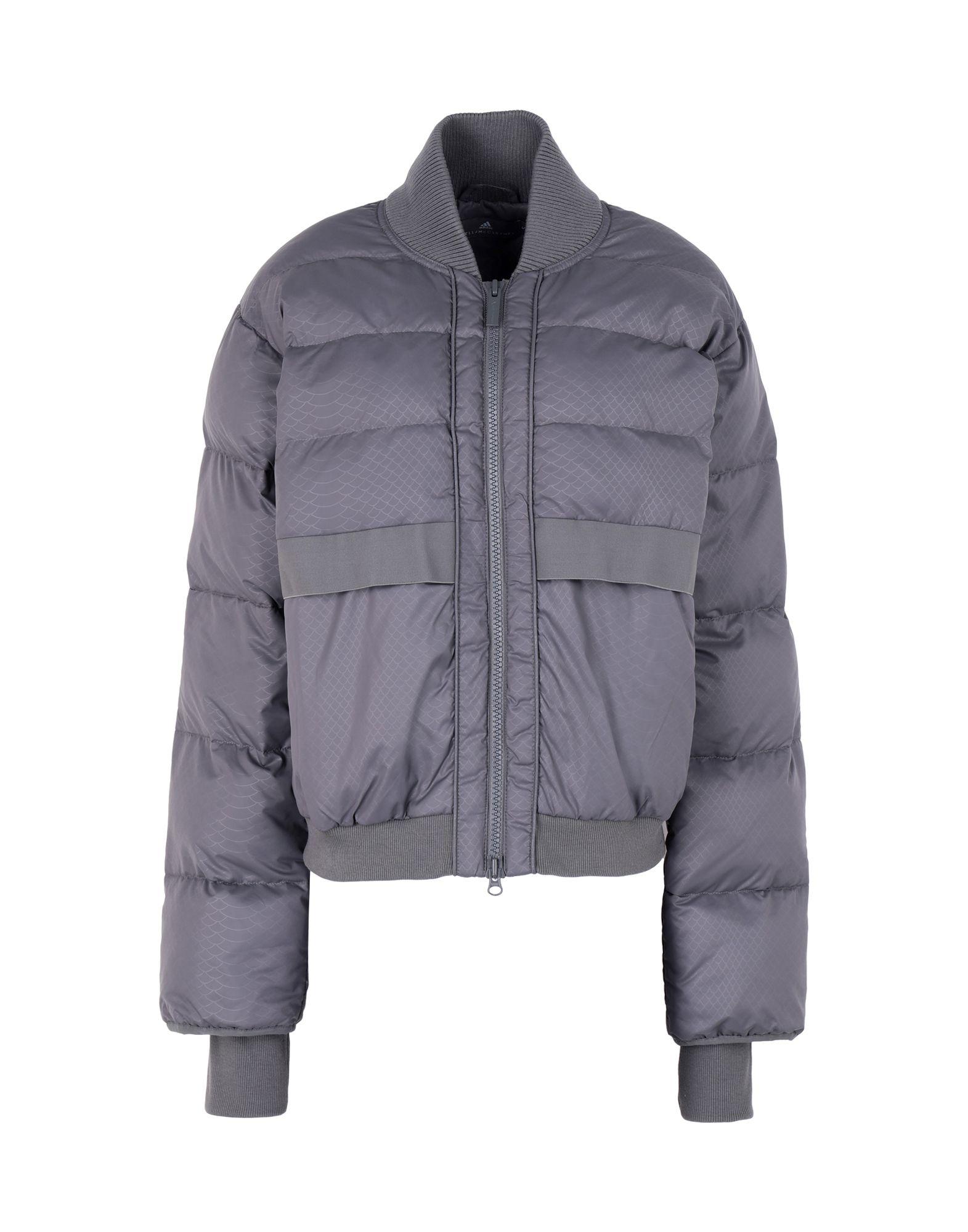 《セール開催中》ADIDAS by STELLA McCARTNEY レディース 合成繊維中綿アウター グレー XS 100% ポリエステル Essentials Short Padded Jacket