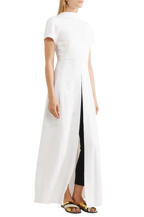 ROSETTA GETTY Open-back draped crepe top