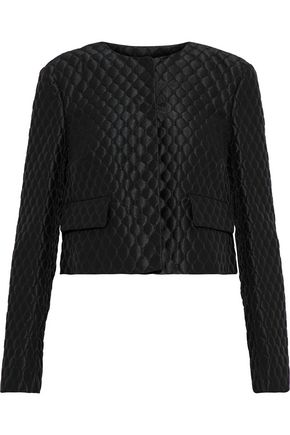 REDValentino Cropped quilted satin-twill jacket