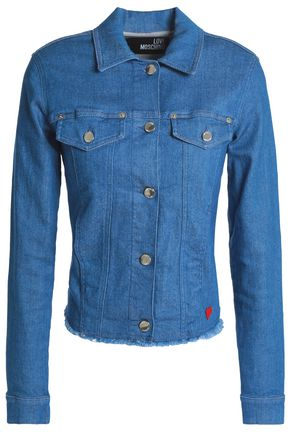 LOVE MOSCHINO Frayed denim jacket