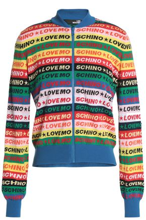 LOVE MOSCHINO Intarsia cotton cardigan