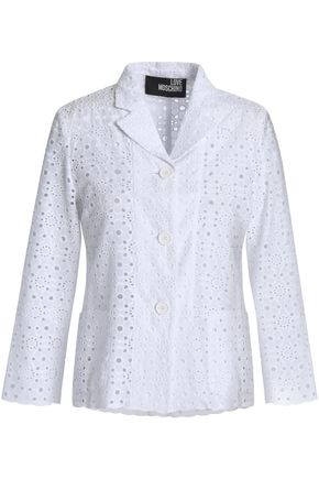 LOVE MOSCHINO Broderie anglaise cotton jacket