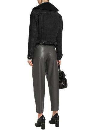 3.1 PHILLIP LIM Faux shearling-trimmed denim jacket