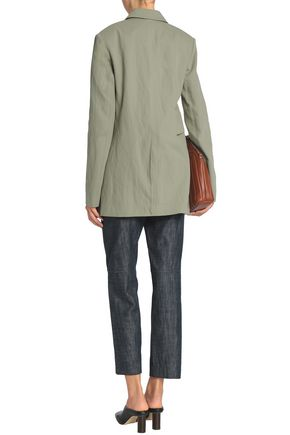 TIBI Double-breasted cotton-blend twill blazer