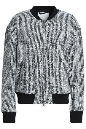 3.1 PHILLIP LIM Bouclé-tweed bomber jacket