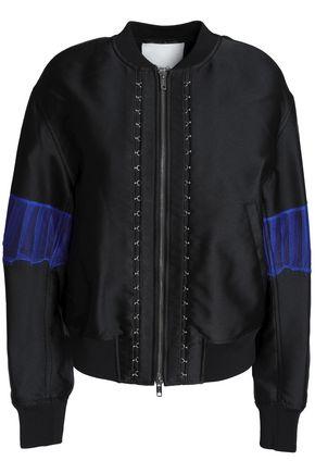 3.1 PHILLIP LIM Lace-trimmed duchesse satin bomber jacket