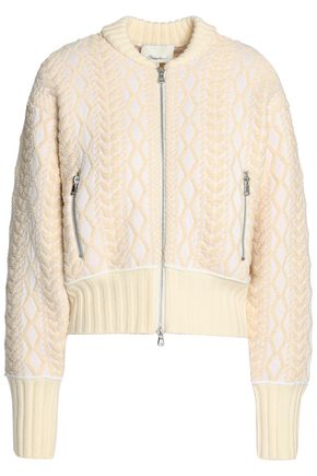 3.1 PHILLIP LIM Jacquard-knit cotton-blend bomber jacket