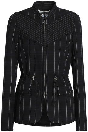 3.1 PHILLIP LIM Paneled striped crepe jacket