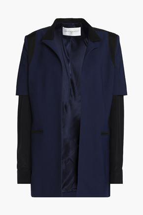 AMANDA WAKELEY Paneled two-tone woven blazer