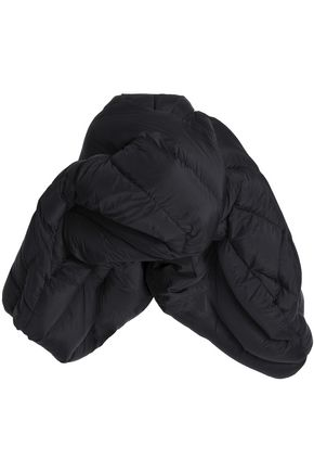 RICK OWENS Flared quilted shell down coat