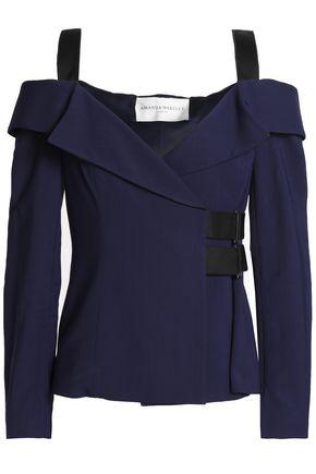 AMANDA WAKELEY Cold-shoulder woven top