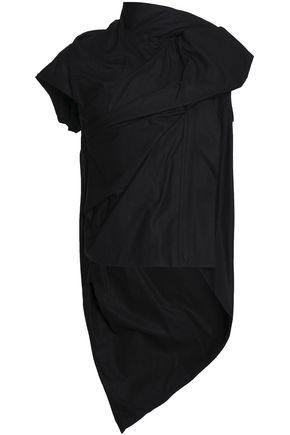 RICK OWENS Asymmetric draped cotton-canvas jacket