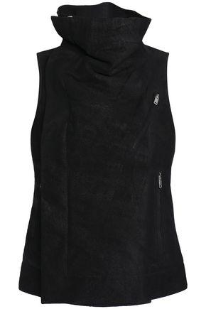 RICK OWENS Draped suede vest
