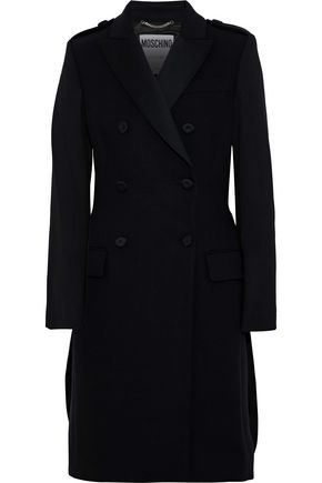 MOSCHINO Double-breasted wool-blend coat