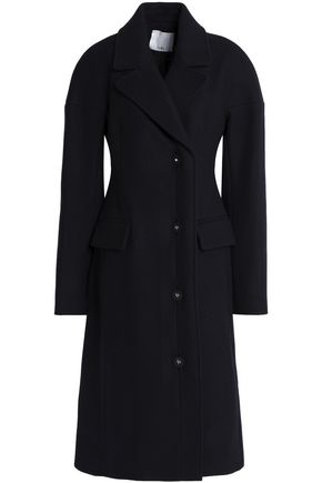 TIBI Double-breasted wool-blend felt coat