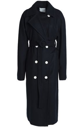 TIBI Double-breasted belted felt coat