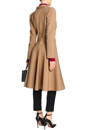 OSCAR DE LA RENTA Pleated wool and cashmere-blend coat