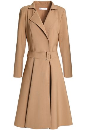OSCAR DE LA RENTA Pleated wool and cashmere-blend coat