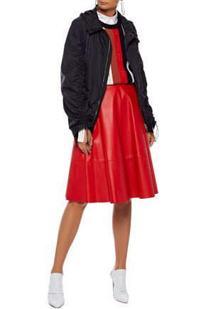 MARNI Ruched shell hooded jacket
