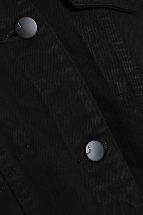 J BRAND Cropped frayed denim jacket