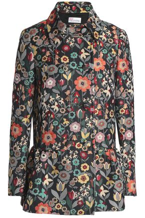 REDValentino Double-breasted floral-jacquard jacket