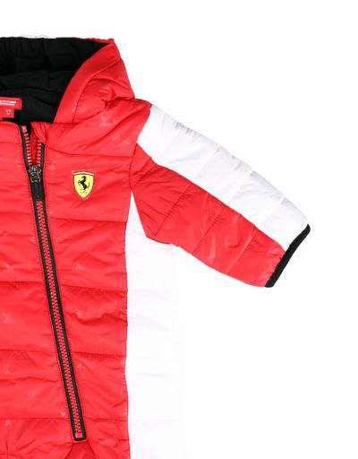 Scuderia Ferrari Online Store - Padded baby all-in-one with arrow print - Down Jackets