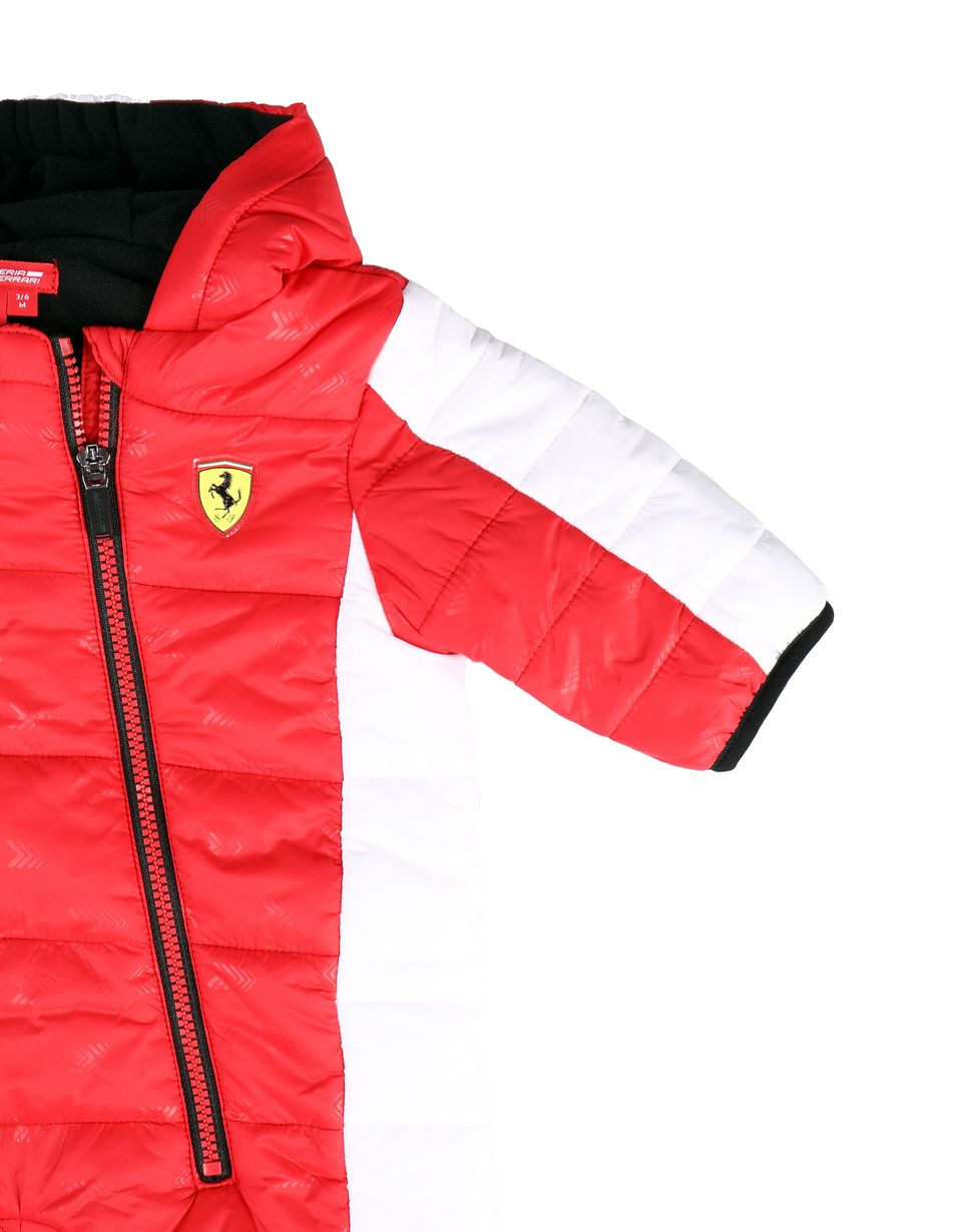 Scuderia Ferrari Online Store - Padded infant sweatsuit with arrow print - Down Jackets