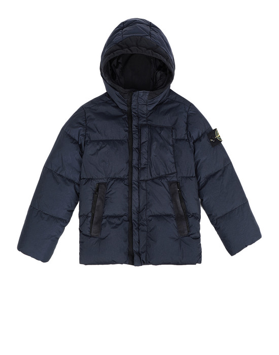 Куртка средней длины 40133 CRINKLE REPS NY DOWN GARMENT DYED STONE ISLAND JUNIOR - 0
