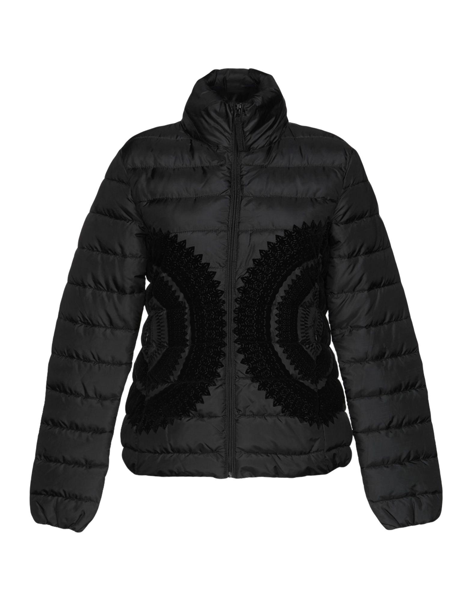 《送料無料》DESIGUAL レディース 合成繊維中綿アウター ブラック 38 ポリエステル 100%