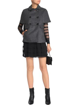 REDValentino Cape-effect wool-blend felt jacket