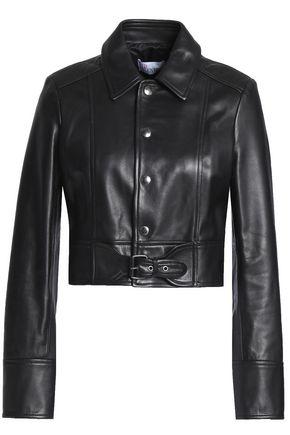 REDValentino Buckled leather jacket