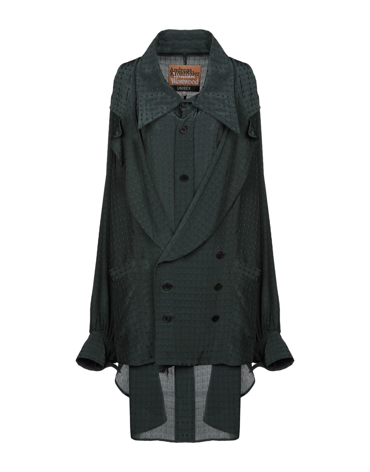 《送料無料》ANDREAS KRONTHALER for VIVIENNE WESTWOOD レディース ライトコート ダークグリーン one size シルク 53% / レーヨン 47%