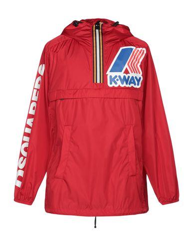 Фото - Легкое пальто от DSQUARED2 x K-WAY красного цвета
