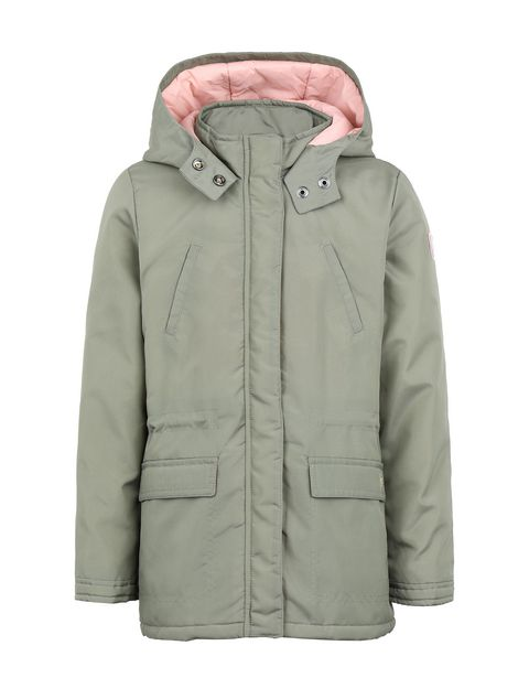Girls' padded water-resistant parka