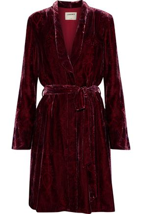 L'AGENCE Cressida printed velvet robe