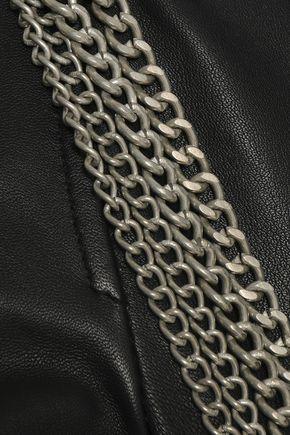 MUUBAA Chain-embellished leather biker jacket