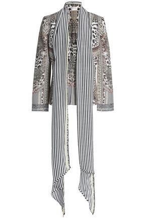 CAMILLA Draped printed twill jacket