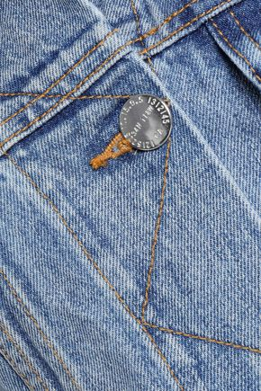 CURRENT/ELLIOTT Collin cropped faded denim jacket