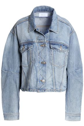CURRENT/ELLIOTT Collin cropped faded denim jacket