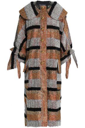 ドルチェ & ガッバーナ 装飾付き ストライプ メタリック コート
