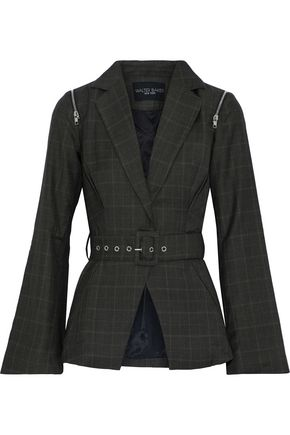 W118 by WALTER BAKER Elsa belted checked woven blazer