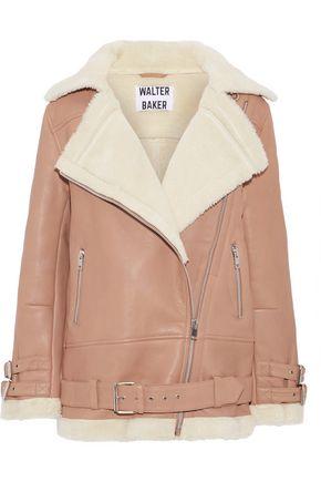 W118 by WALTER BAKER Adele shearling biker jacket